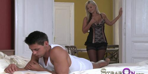 Wonder blonde is given DP treatment from BF
