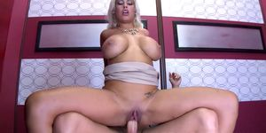 An elevator is a good place for drilling her Latina pussy