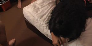 Slutwife gangbanged by 10 guys at the motel room