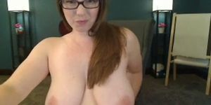 Thick girl playing with a dildo