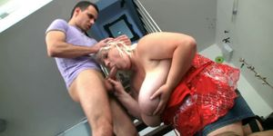 Fat big tits blonde plumper therapy