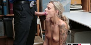 Sweet tiny thief Emma Hix gets a dick for theft