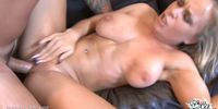 Big Titty Blonde Bounces On A Thick Cock!