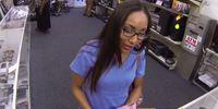Latina pawnbroker cocksucking for quick cash