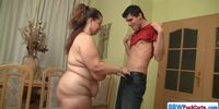 Amateur BBW Fucked By Young Stud