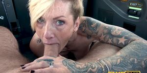Fake Taxi - Horny British Blonde MILF Swaps Shops for Cock