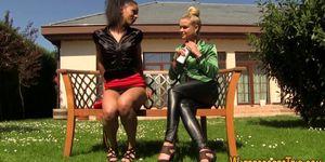 Glam lesbos piss soak Porn Videos