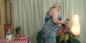 Son in law bangs bangs old plumper from behind Porn Videos
