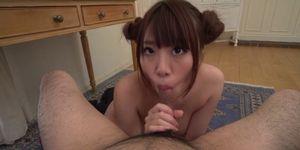 Chisa Hoshino makes sure suck that dick