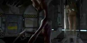 3D Alien Abducts Blonde