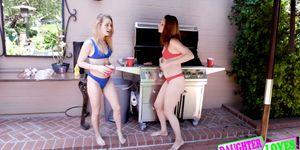 Jaycee Starr, Natalie Knight Smash Summer Swap Dads Dick