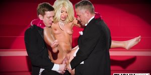 Adriana Chechik Gets Triple Teamed And Gaped