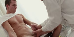 Ripped mormon cum soaked