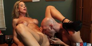 Busty Bruneete MILF Rides Young Long Thick Cock Brandi Love