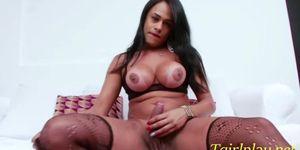 Brunette latina Mariana Rios playful masturbation show