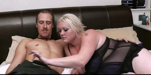 He is seduced by cock hungry blonde plumper