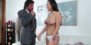 Porn Star Gets Jugs Jizzed After Giving Head
