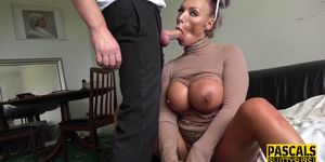 Real kinky MILF gets ass fucked and swallows