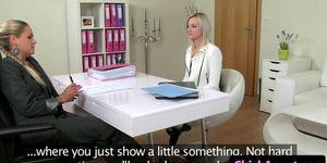 Female agent masturbates after babes audition