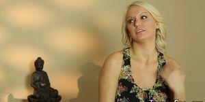 Blonde rides masseurs rod Porn Videos