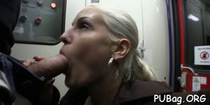 Sex with public agent is full of passion