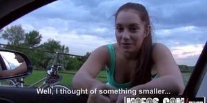 Mofos - Stranded Teens - Jenny Dark - Driving Blowjob Amateur Girl