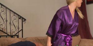 Blonde masseuse jerks Porn Videos