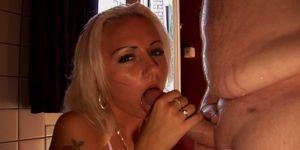 Amsterdam prostitute handling cum in mouth
