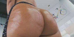 Huge oiled up ass