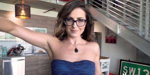 Hairy Stepmom MILF in Glasses Gets Mouth Spermed