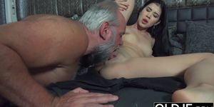 Licked by Teen grandpa fucked and