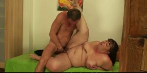 Chubby girlfriends mother pleases him