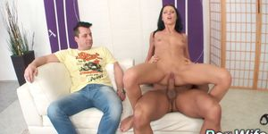 Skinny Wife July Sun Is Ruined by a Thick Dick Next to Her Cuckold Husband