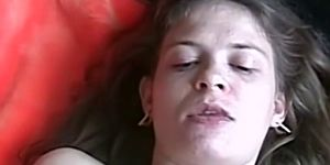 Amateur chick makes him cum by sucking him off real good