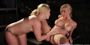 Army lesbians finger fucking in sapphic duo