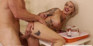 Tattooed blonde Kleio Valentien fucking