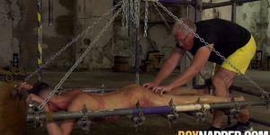 Master Sebastian Kane working on suspended twink