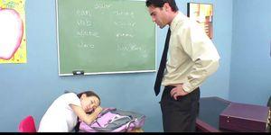 Teacher banging skinny Asian teens tight pussy