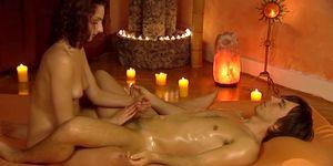 Hand job Massage From Brunette MILF Feels So Right
