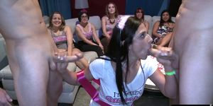 Bachelorette sucking strippers cocks