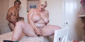 OLD NANNY - AgedLovE Hardcore Busty Mature Lover Drilling