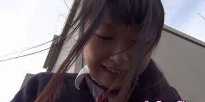 Japanese teen spreading