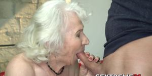 Busty granny fucked in juicy pussy and jizzed on sweet tits