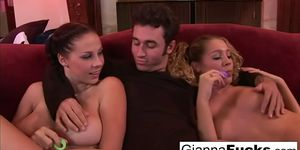 Hotties Gianna Michaels and Misti May double team James Deen