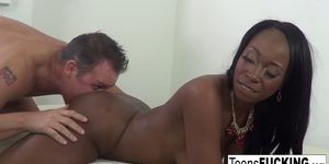 Mocha Menage fucks white cock