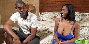 Ebony Babe Sucking and Fucking