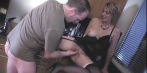 Busty French blonde Alix Files gets her pussy fisted in the kitchen