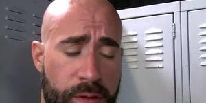 DylanLucas Locker Room Twink Scores Hairy Daddy
