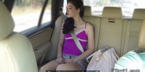 Nice butt brunette banged in fake taxi