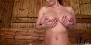 Big Tits Girl in Sauna
